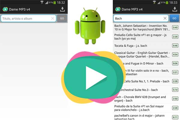 Dame MP3 para Android