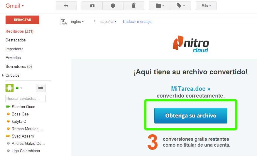 Convertir PDF a Word Online
