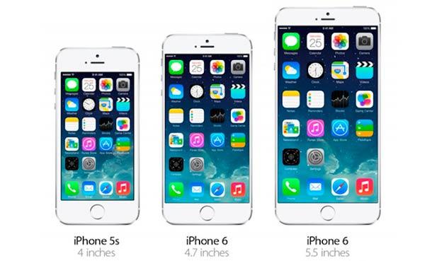 iPhone 6 diferentes tamaños